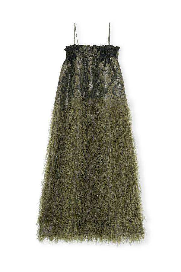 Feathery Cotton Strap Dress